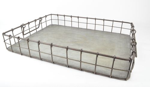 Metalltablett 40x30 - Tablett im Industrie Stil