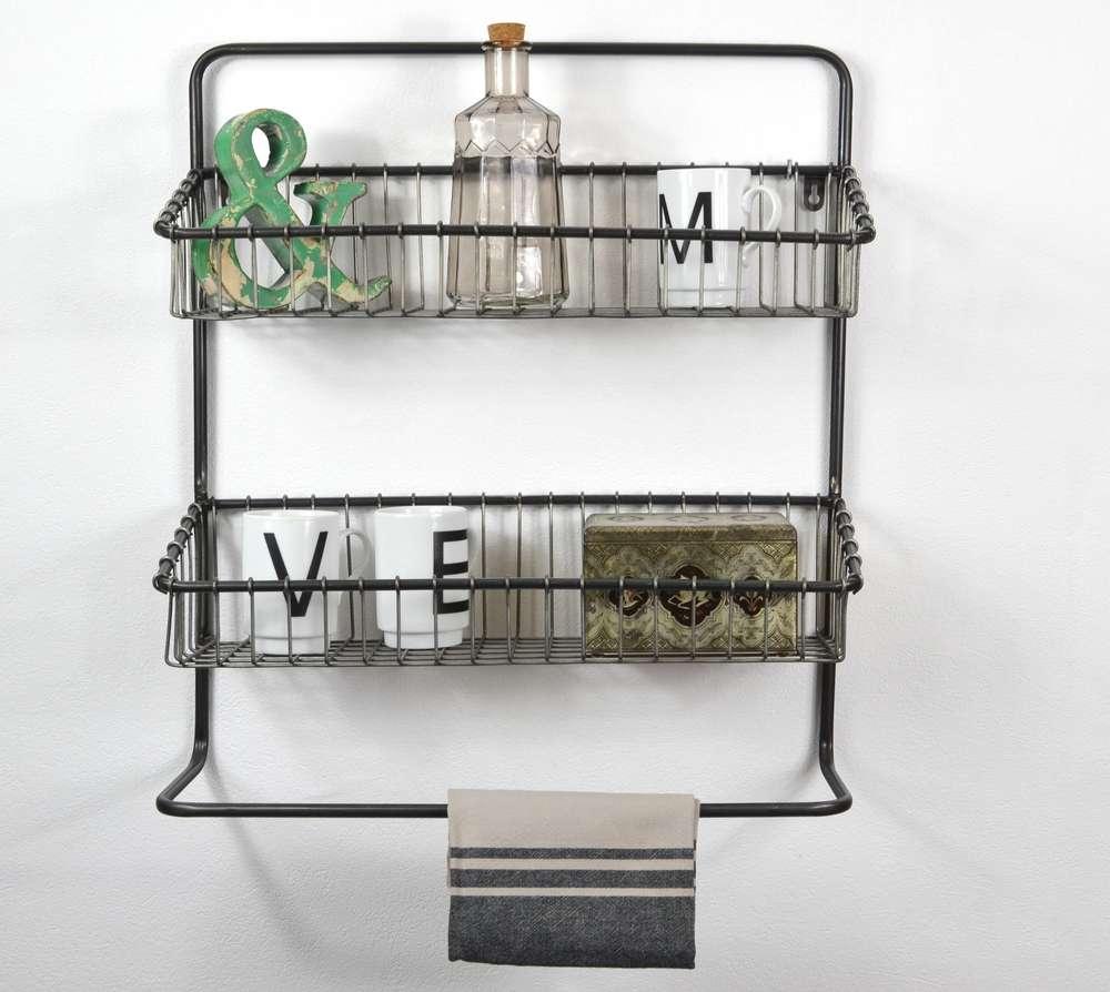 Hängeregal im Industrie Stil groß - Wandregal Küchenregal