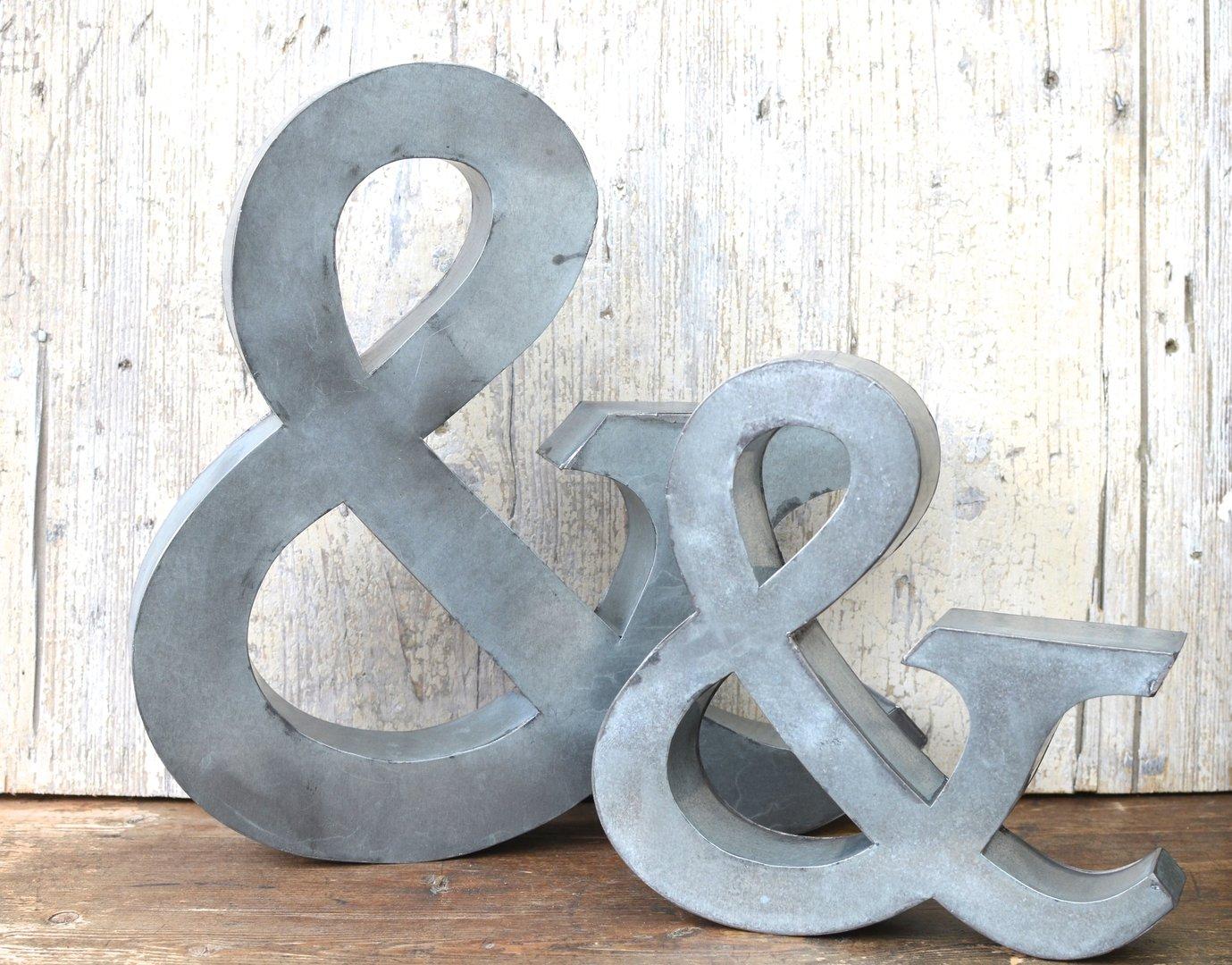 Buchstabe und aus metall 19x18 cm dekobuchstabe for Blechtiere garten