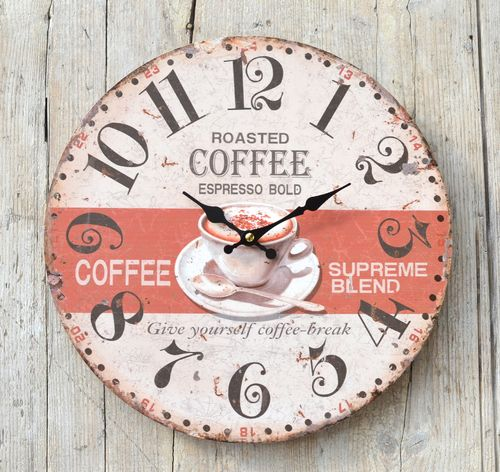 Wanduhr Roasted Coffee ø 33 cm