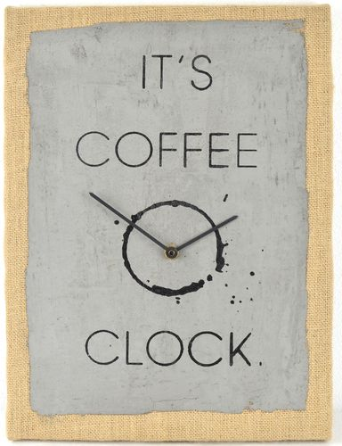 Wanduhr Betonuhr - Coffee Clock