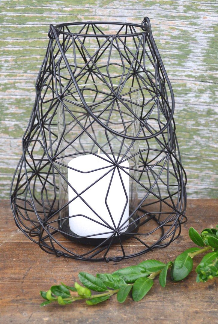 romantisches windlicht zum h ngen oder stellen laterne. Black Bedroom Furniture Sets. Home Design Ideas